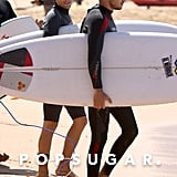 Louis Tomlinson and Liam Payne went surfing in Australia.