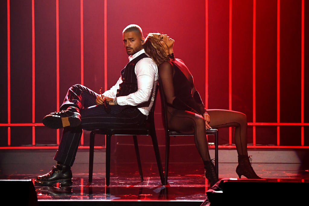 "I thought I was prepared for Maluma and Jennifer Lopez's performance at the American Music Awards on Sunday, but boy, was I wrong. Given that it marked Maluma's debut at the ceremony, I should have already known that he and J Lo were going to bring the heat. The duo collectively steamed up the stage as they performed their two hits, ""Pa Ti"" and ""Lonely,"" which will be featured in their upcoming rom-com, Marry Me.  The movie — which is now set to premiere on May 14, 2021 after being pushed back from its original Valentine's Day release — is based on Bobby Crosby's graphic novel of the same name and is described as a cross between Notting Hill and A Star Is Born. It follows Lopez's Kat as she finds out that her fiancé, Maluma's Bastian, has been cheating on her with her assistant. She then goes on to marry a random crowd member, played by Owen Wilson, instead. For a glimpse of what's to come, check out photos of Maluma and J Lo's performance ahead.      Related:                                                                                                           Presenting the Winners of the 2020 American Music Awards"