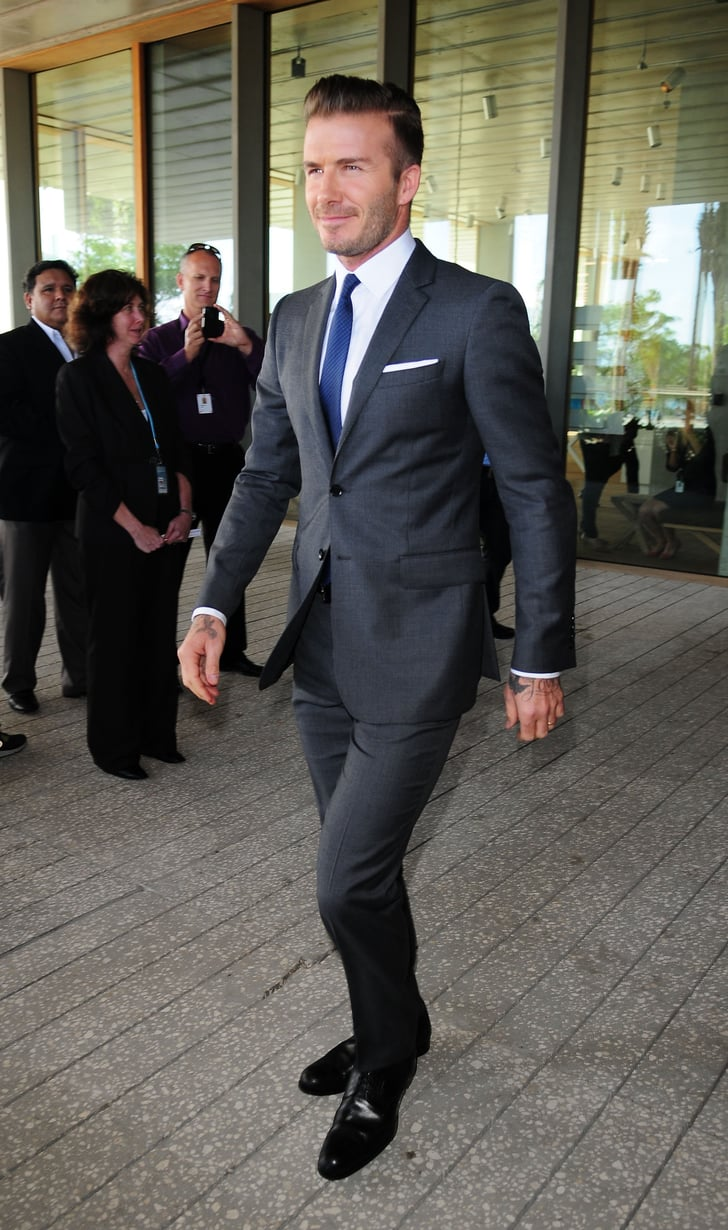 David Beckham Celebrity Red Carpet Fashion Feb 3