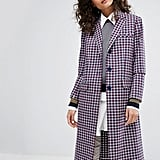 What's red, blue, and perfectly preppy all over? This Sonia by Sonia Rykiel Small Check Tailored Coat ($520), of course.