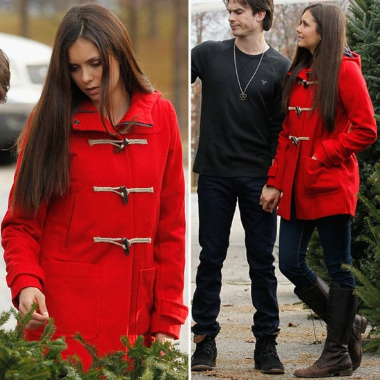 In search of a classic Winter coat? Take a cue from Nina Dobrev's adorable toggle coat.