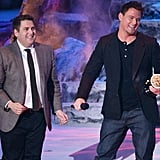 Jonah Hill presented his 22 Jump Street costar with the trailblazer award, for being hot and also a movie star.