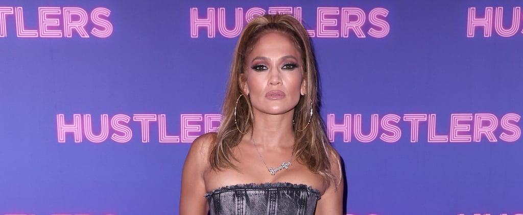 Jennifer Lopez's Black and White Nail Art