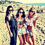 Ashley Tisdale hit the beach with her girlfriends. Source: Instagram user ashleytis