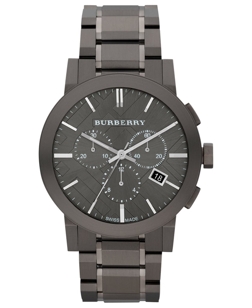 The gunmetal shade of this Burberry Men's Swiss Watch ($671) is irreplaceable.