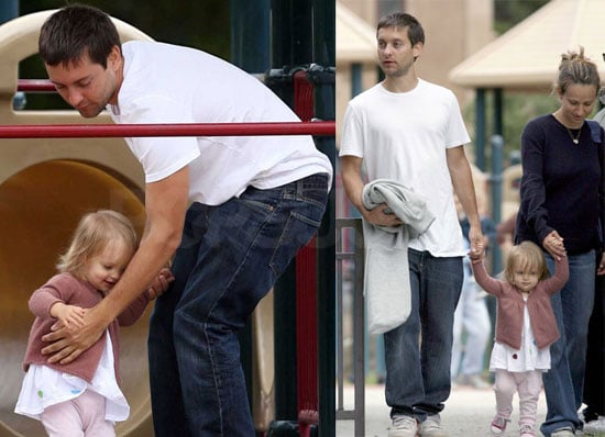 Tobey Maguire and Ruby Sweetheart in Coldwater Park