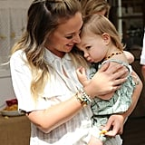 Haylie Duff and Daughter Ryan at Applegate's Sandwich Soiree