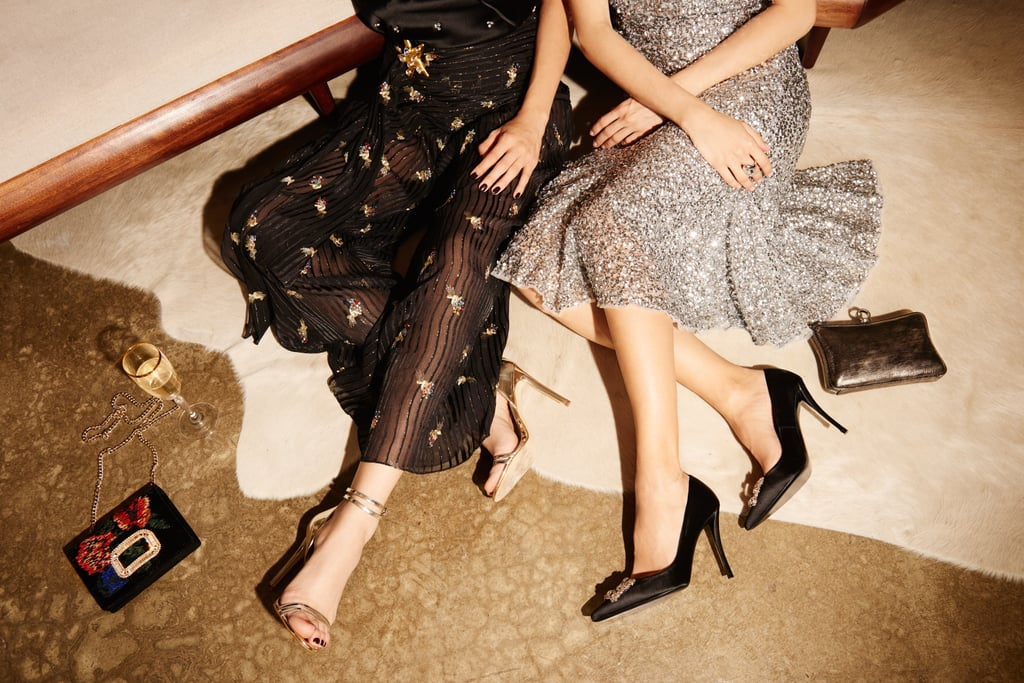 Go for a dress or skirt with sequined embellishments