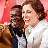 Pictured: Daniel Kaluuya and Timothée Chalamet