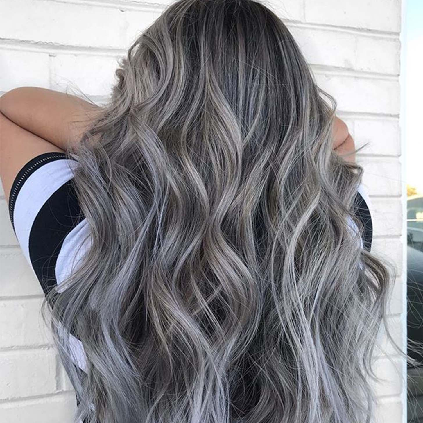Silver Highlights Pinterest Trend Popsugar Beauty