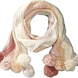 BCBGMAXAZRIA Crochet Stripe Pom Scarf