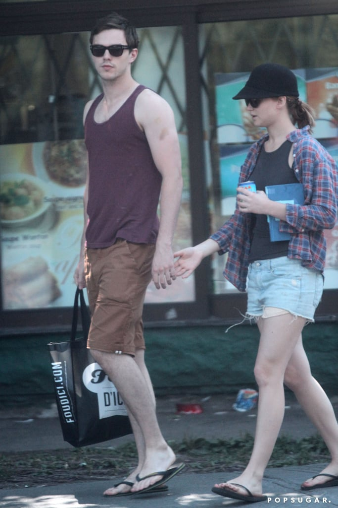Jennifer Lawrence and Nicholas Hoult held hands in public.
