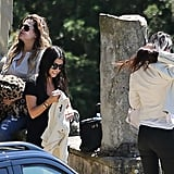 Khloe, Kourtney, and Kendall arrived in Florence.