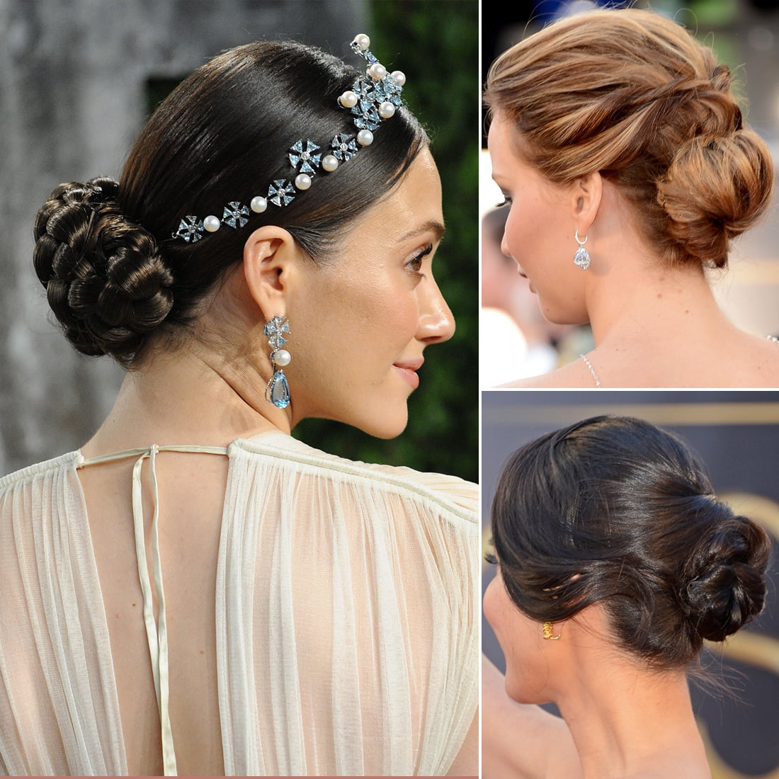 Awesome The Dressy Bun The 12 Hottest Beauty Trends From Oscars Night Hairstyles For Women Draintrainus
