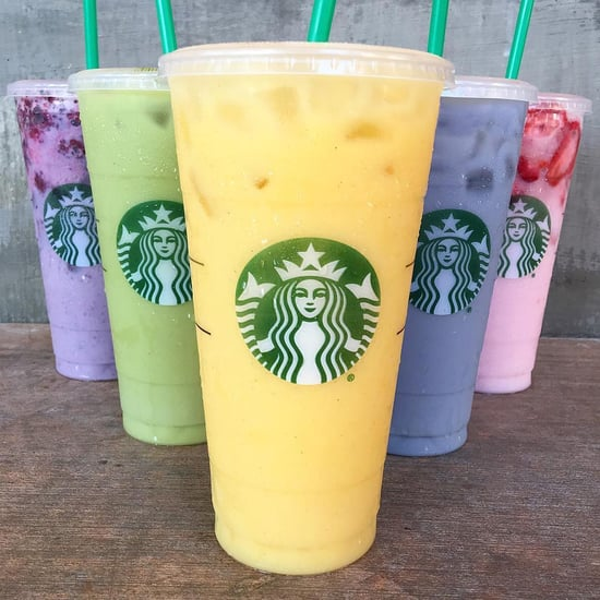 Starbucks Purple, Green, Orange, Blue, and Pink Drinks