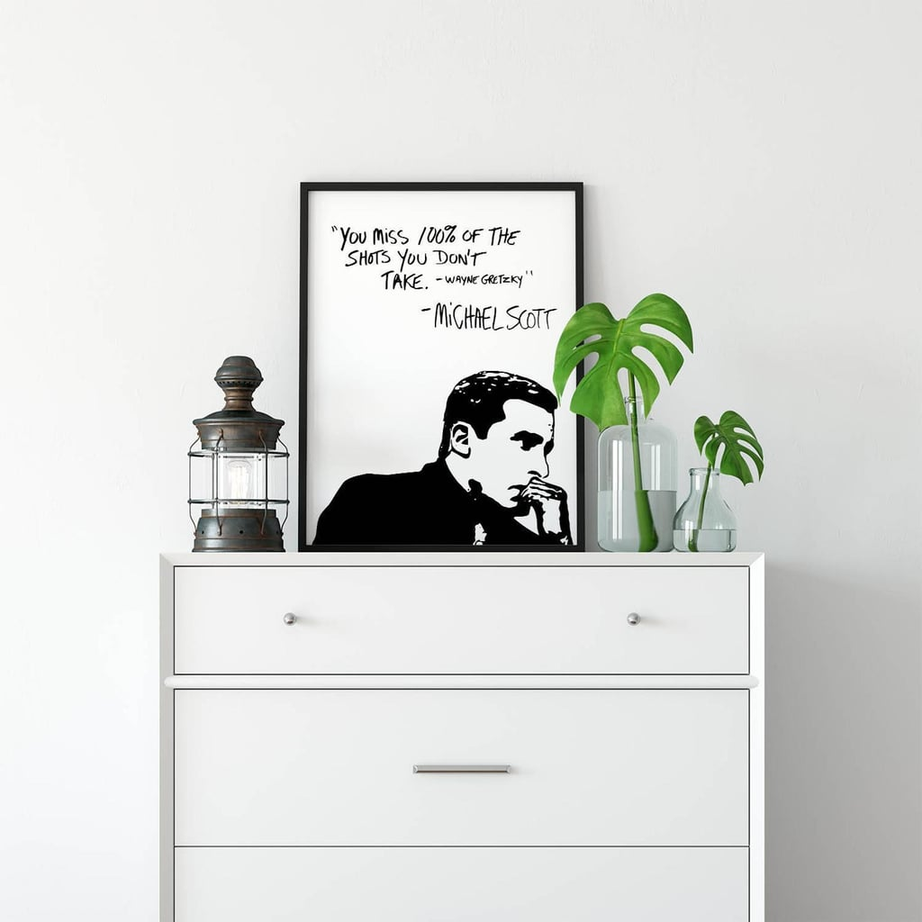 Michael Scott Wayne Gretzky Quote Poster
