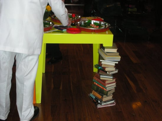 Cool Idea: Stacked Books Table Leg