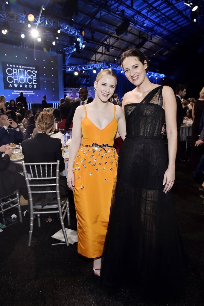 Rachel Brosnahan and Phoebe Waller-Bridge at the 2020 Critics' Choice Awards