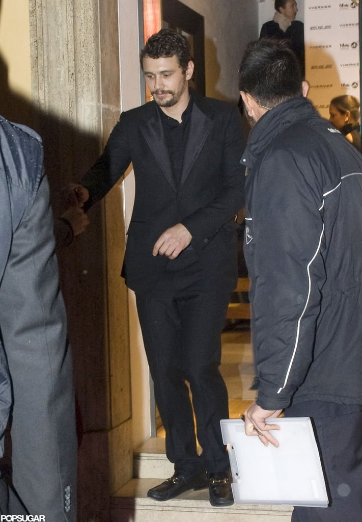 James Franco arrived at the event in Rome.