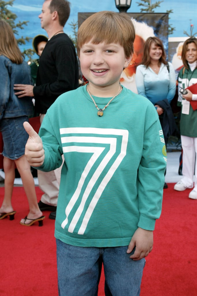 Giving the thumbs up at the premiere of Santa Clause 2 in October 2002.