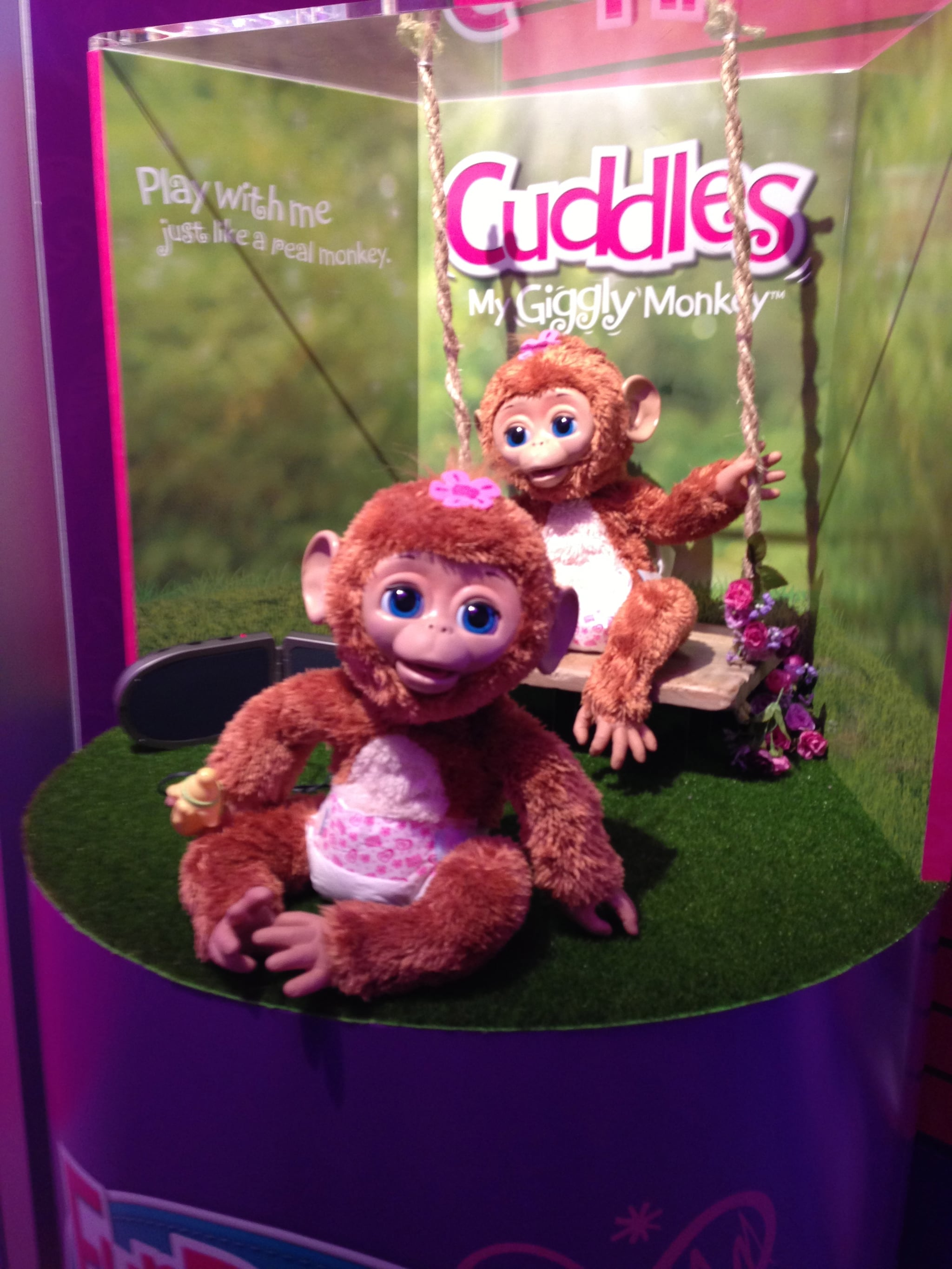 It's impossible not to crack up around Cuddles the Giggly Monkey.