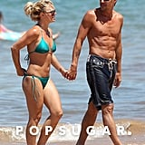 Britney and then-boyfriend Jason Trawick showed sweet PDA during a stroll in Maui, HI, in August 2010.