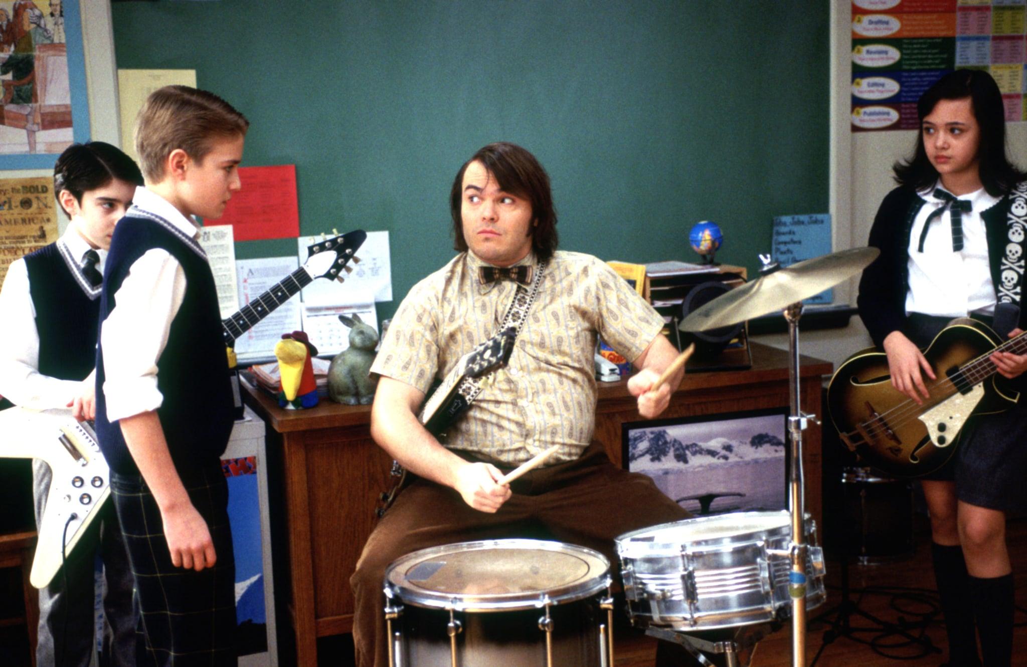SCHOOL OF ROCK, Joey Gaydos Jr., Kevin Clark, Jack Black, Rebecca Brown, 2003, (c) Paramount/courtesy Everett Collection