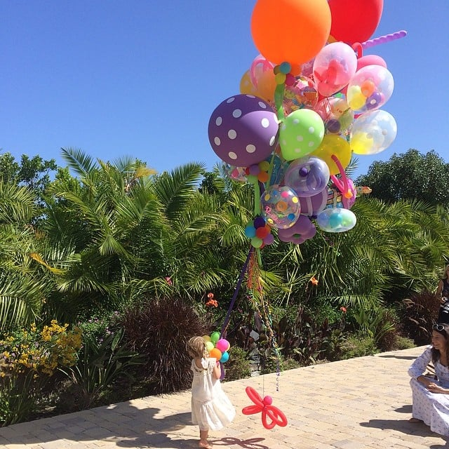 Willow Hart celebrated her third birthday with a lot of balloons! Source: Instagram user hartluck