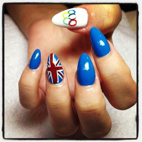 Lily Allen Olympics Nail Art