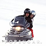 Prince William took Kate Middleton for a spin on a snowmobile during a trip to the French Alps in March 2010.