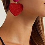 Rebecca de Ravenel Cora Heart Cord Earrings