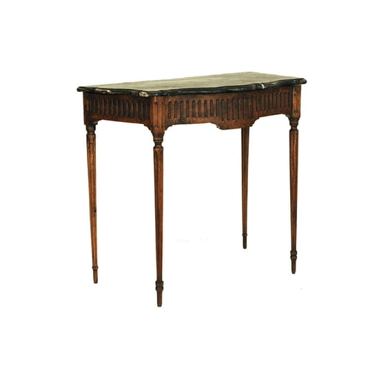 1STDIBS.COM - Robuck & Co. Antiques, LTD. - A Piemontese Louis XVI Period Carved Walnut M/T Console Table