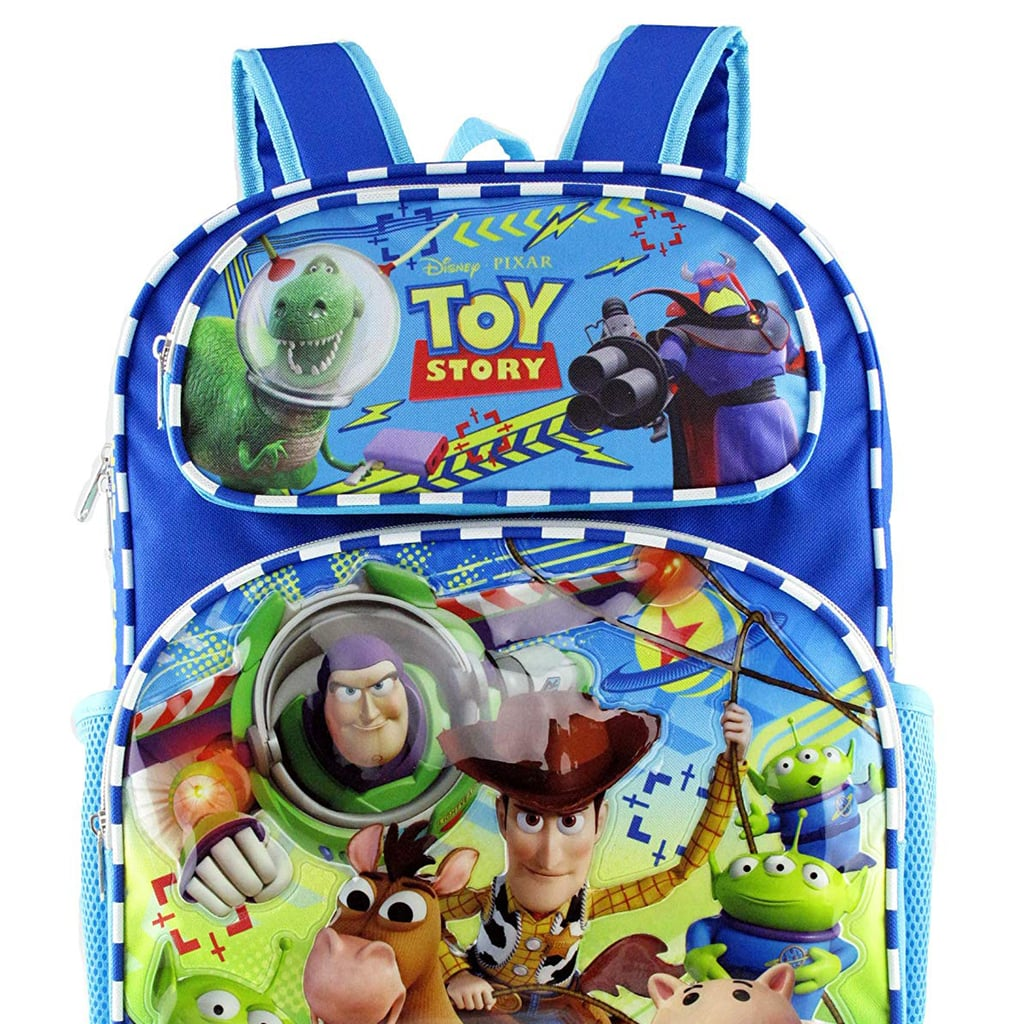 "NEW Disney Pixar Toy Story 4 16/"" Canvas Blue School Backpack"