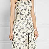Tory Burch Grosgrain-trimmed linen-blend floral-jacquard dress ($695)