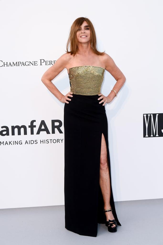 Carine Roitfeld at the amfAR Cannes Gala