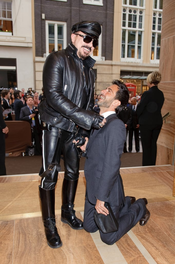 ">> Marc Jacobs has taken the stage for many a reason in the past — usually it involves accepting an award — but last night, it was to sing backup to Donna Summer at the opening of Louis Vuitton's new store on Bond Street in London. ""It was fun — but I think I'll stick to my day job,"" he quipped. Jacobs celebrated with the likes of Stella Tennant, Bernard Arnault, Carine Roitfeld, and Natalia Vodianova, and opened up about his recent hair transplant, which had him avoiding press and cameras at the Costume Institute Gala earlier this month. ""I was starting to thin on top. I can't dye it for a while, so this is my natural colour."" He also hinted that the Louis Vuitton logo that he has helped make so ubiquitous almost got squelched way back when he first started at the brand: ""When I arrived at Louis Vuitton 12 years ago, and I was figuring out how to create a new tier of Vuitton for a different customer, I thought it would be clever to hide that monogram, which was very stupid of me. That logo is part of what makes the Vuitton so desirable. It allows people to become members of an aspirational club."" Logos are to be expected, but not Louis Vuitton couture — Jacobs says he has no desire to launch such a collection. ""Some of what we already do at ready-to-wear is pretty much at couture level, anyway."""