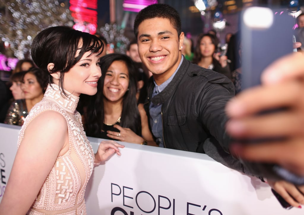 Ashley Rickards Got In On The Selfie Game At The People's