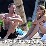 Gwyneth and Chris shared a sweet moment.