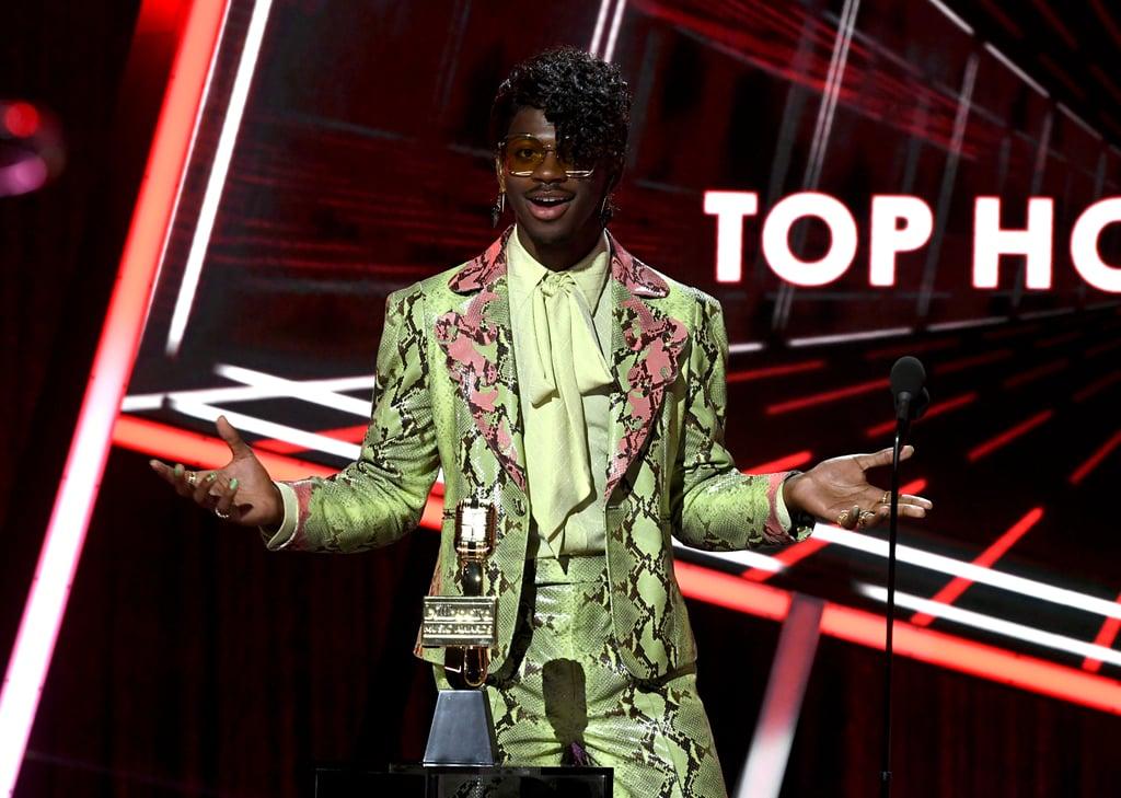 Lil Nas X Wearing Gucci at the Billboard Music Awards 2020