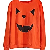 Women's Halloween Pumpkin Face Long Sleeve Sweatshirt