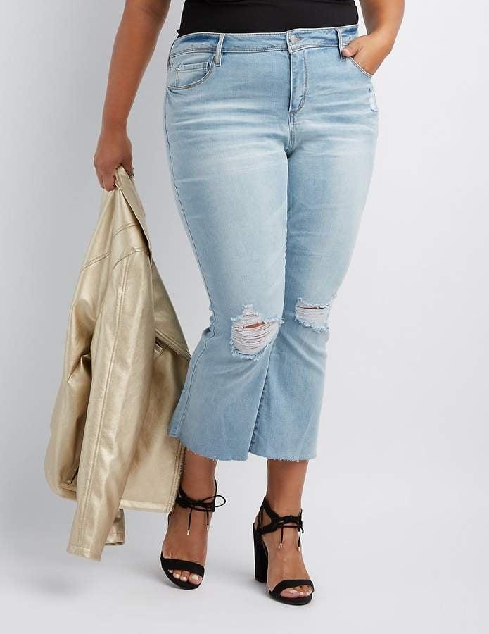 a28cf235b9b6c Charlotte Russe Refuge Destroyed Flare Jeans