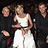 Ellen DeGeneres and Portia de Rossi shared a sweet moment in 2016 while sitting next to Chris Hemsworth.