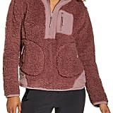 Zella Mix It Up Faux Shearling Half-Zip Pullover