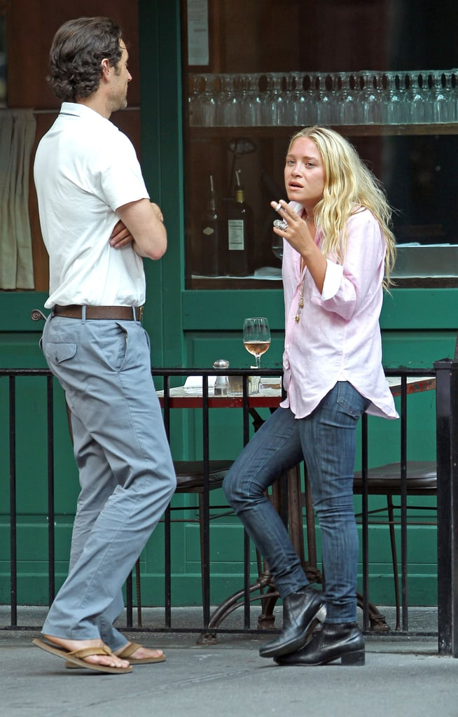 Mary-Kate Olsen at St. Ambroeus in NYC.