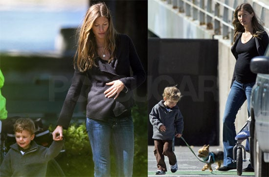 Photos of Pregnant Gisele Bundchen With John Moynahan and Puppy