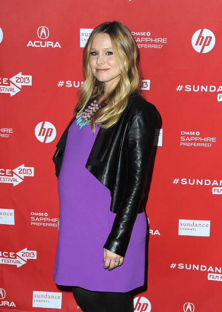 Pregnant Kristen Bell arrived for the premiere of The Lifeguard in 2013.