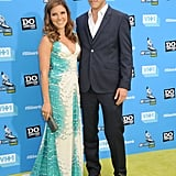 Host Sophia Bush hit the yellow carpet with her boyfriend, Dan Fredinburg.