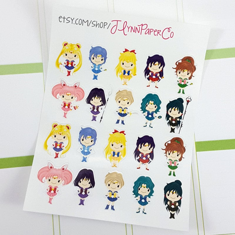 70 Tiny Sailor Moon Stickers ($2)