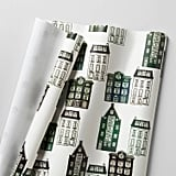 House Cream and Green Gift Wrap ($6)