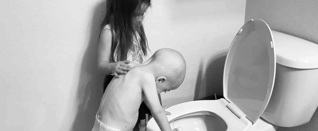 Little Girl Comforts Brother Undergoing Chemotherapy